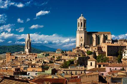 Family visit to Girona