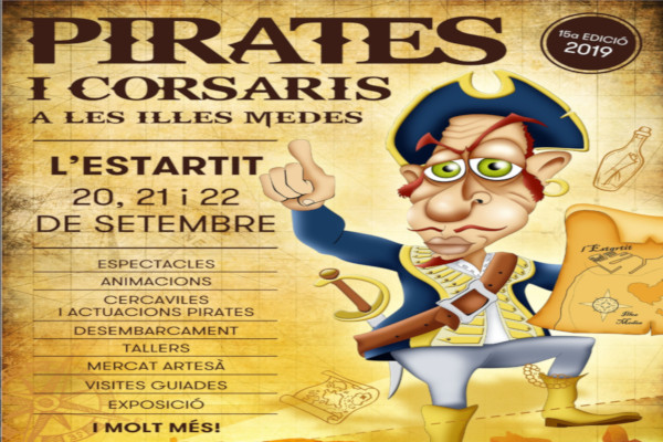 "New edition of the ""Fira de Pirates i Corsaris de les Illes Medes"" – September 2019"