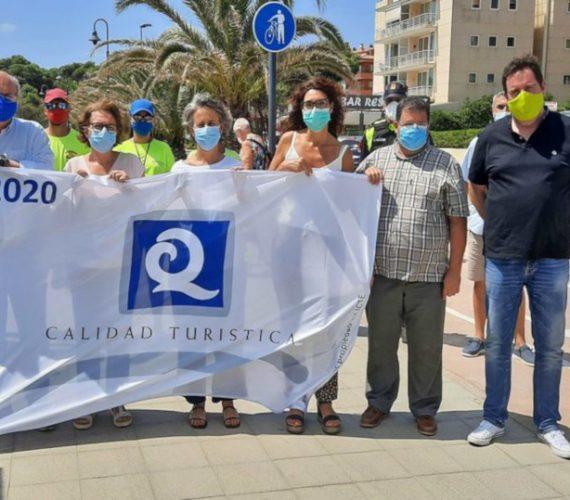 La platja Gran de l'Estartit distinguished with the Q for Tourist Quality – August 2020