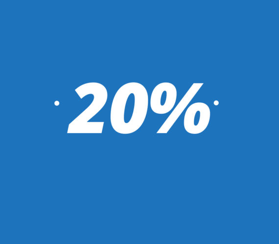 20% discount for stays of minimum 7 nights