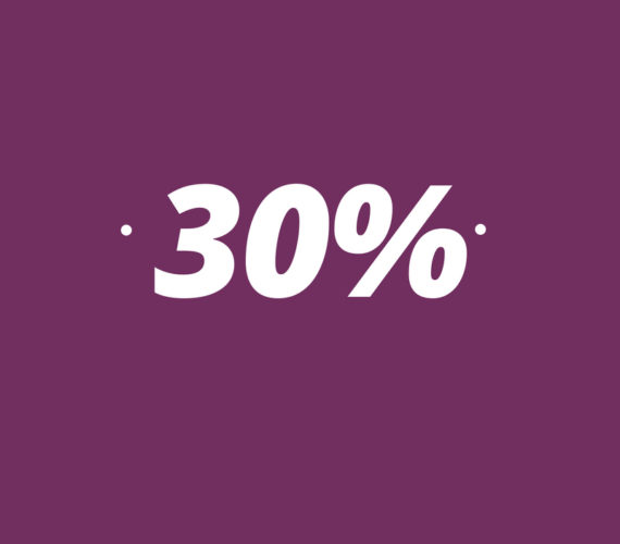 30% discount for stays of minimum 14 nights