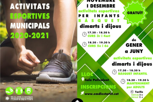 Municipal sports activities in l'Estartit 2020-2021 – November 2020