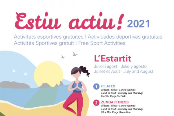 Active summer! Sports activities July and August in l'Estartit – July 2021